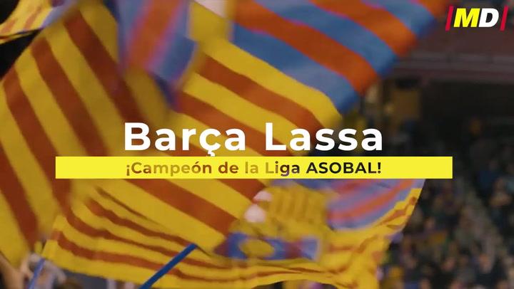 El Barça Lassa, campeón de la Liga ASOBAL
