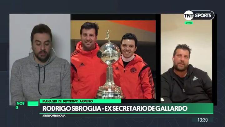 """Rodrigo Sbroglia: """"A Gallardo le encantaría entrenar a Messi"""""""