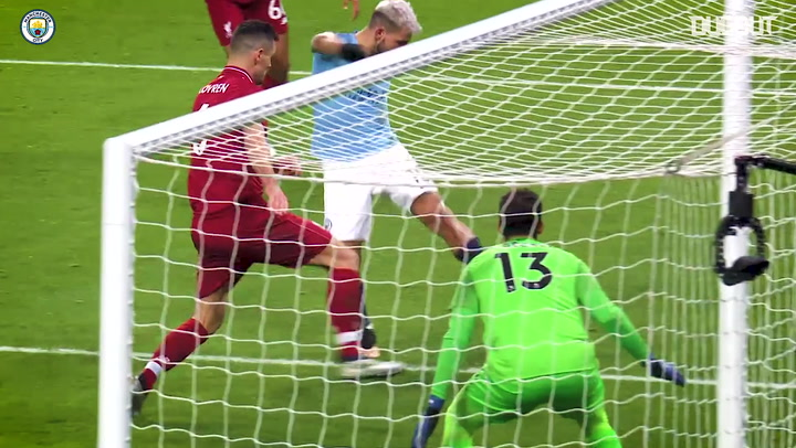 Sergio Agüero fires past Alisson in Liverpool victory
