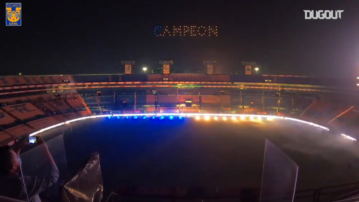 Tigres' lights display after winning the CONCACAF Champions League
