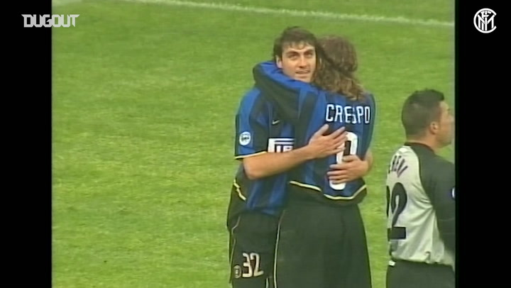 Christian Vieri scores four goals vs Brescia