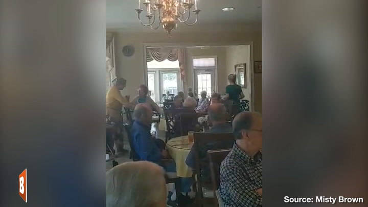 Assisted Living Residents, Veterans Sing God Bless America While in Coronavirus Quarantine
