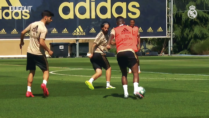 Focus on Vinicius Jr in Real Madrid training