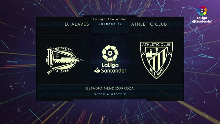 LaLiga Santander (J25): Resumen y gol del Alavés 2-1 Athletic
