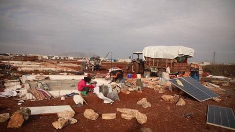 Violencia en el noroeste de Siria deja 900,000 desplazados desde diciembre