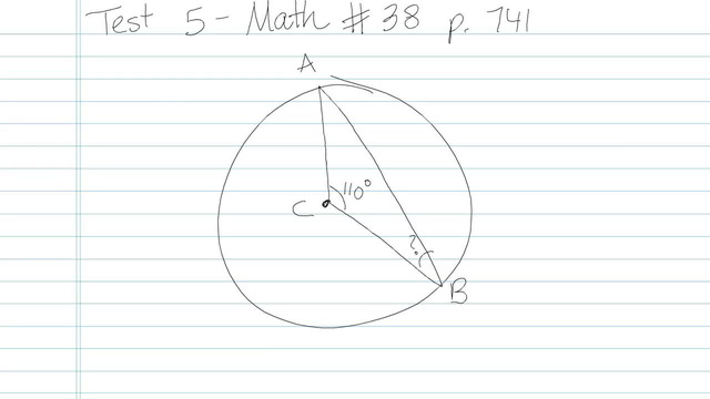 Test 5 - Math - Question 38