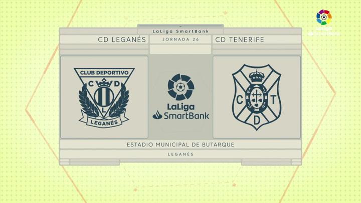 LaLiga SmartBank (J26): Resumen y goles del Leganés 1-0 Tenerife