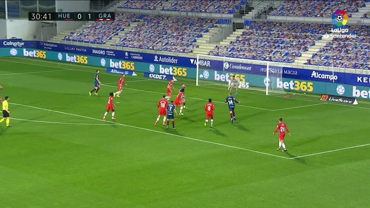 Gol de Escriche (1-1) en el Huesca 3-2 Granada