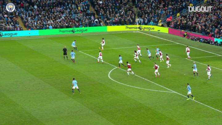 El hat-trick de Sergio Agüero ante el Arsenal