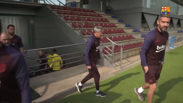 El Coronavirus suspende los entrenamientos del primer equipo del Barça