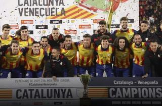 Selección de Cataluña vence a Venezuela en los últimos minutos