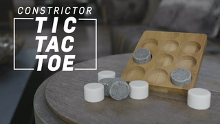 Constrictor (Bamboo Tic-Tac-Toe Game With Stone Playing Pieces)