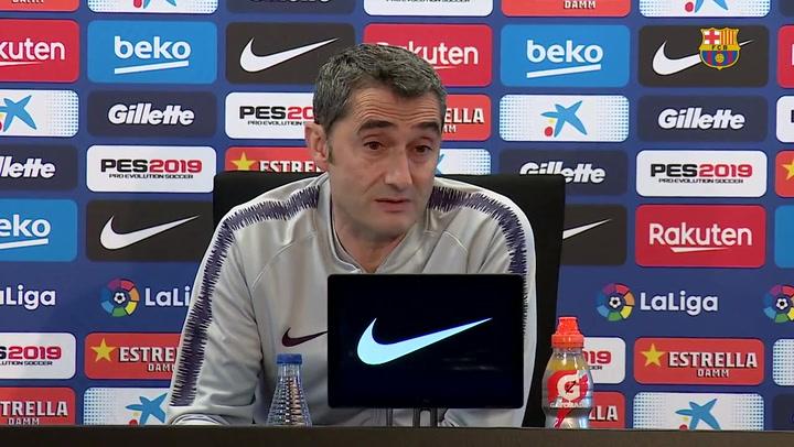 La rueda de prensa de Valverde antes de cerrar la liga ante el Eibar