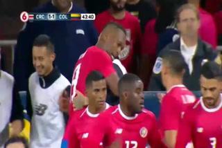 Costa Rica y Colombia empatan 1 - 1 al término de la primera parte