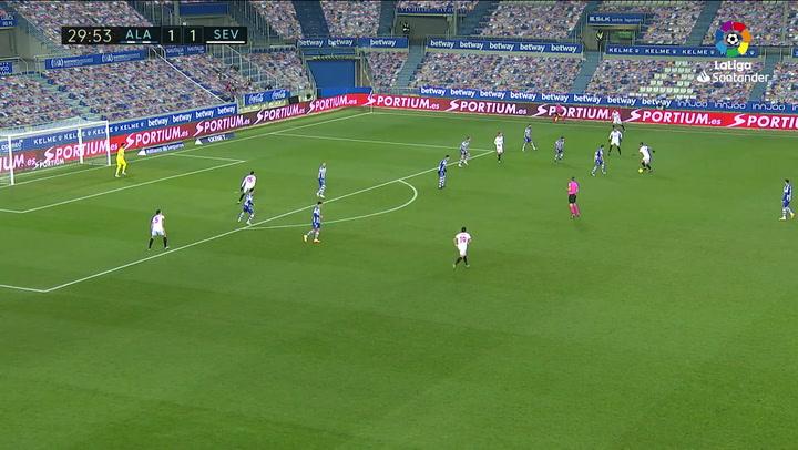 Gol de Suso (1-2) en el Alavés 1-2 Sevilla