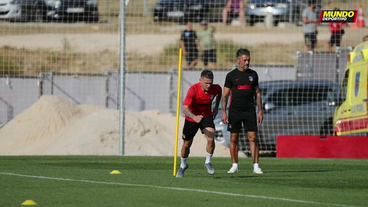 Primer entrenamiento de Trippier con el Atlético Madrid