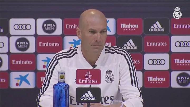 La rueda de prensa de Zidane, previa del Real Madrid - Celta