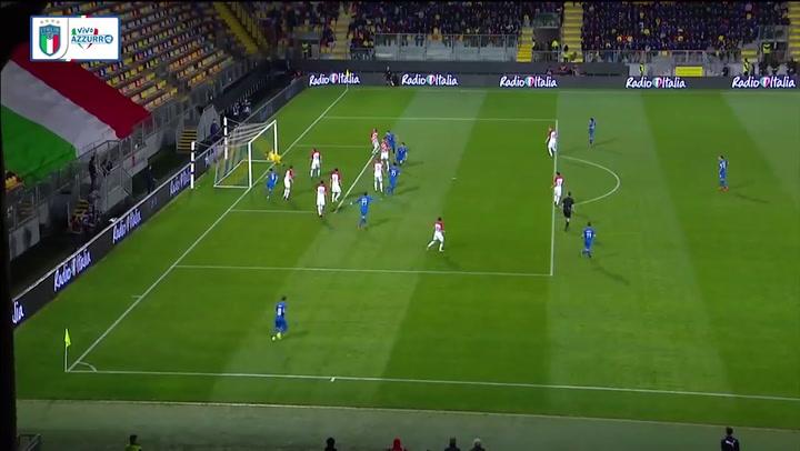 Golazo de Bastoni ante Croacia en un amistoso con Italia