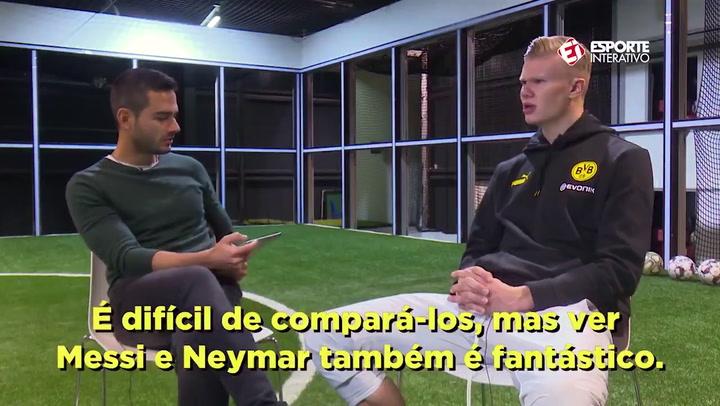 Guiño de Haaland a Messi y Neymar... ¿pensando en el Barça?