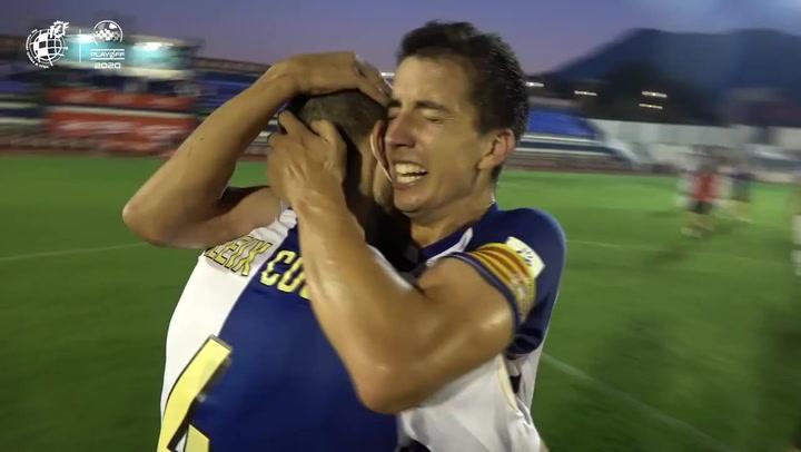 Así celebró el Sabadell el ascenso a Segunda A
