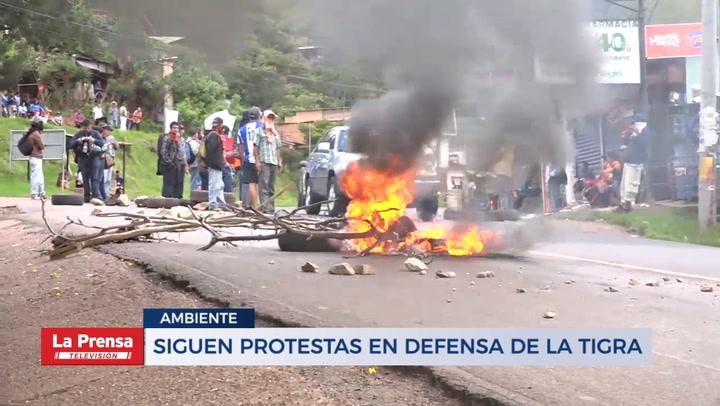 Siguen protestas en defensa de La Tigra - La Prensa de Honduras