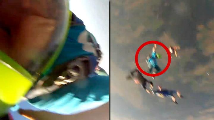 Her ser han GoPro-kameraet forsvinne i løse luften
