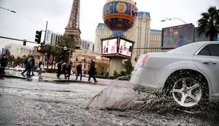 Rain In Downtown Las Vegas – Video