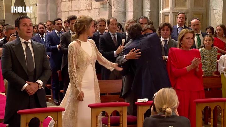 El bello gesto de María Pombo con sus padres en el día de su boda