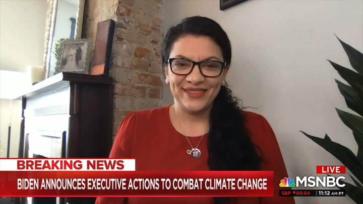 Tlaib: Green New Deal Pushed Biden to 'More Aggressive' Approach