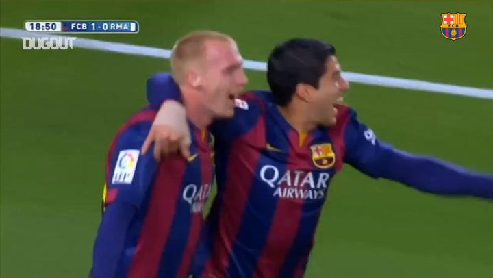 Jérémy Mathieu header gives Barça the lead in El Clasico