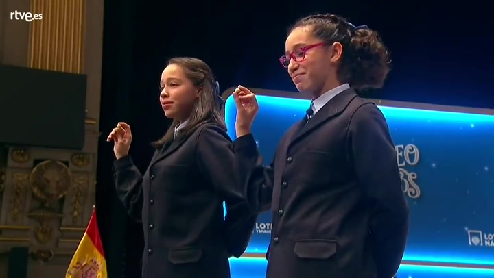 Así han cantado las niñas de San Ildefonso El Gordo de la Lotería de Navidad 2019