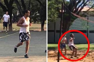 Ronaldinho sufre su primera derrota en prisión a manos de homicida y un ladrón