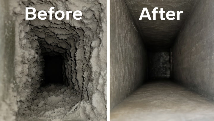How air vents are professionally deep cleaned