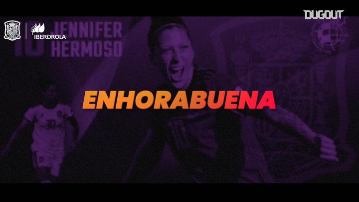 El homenaje a Jenni Hermoso, máxima goleadora histórica de España