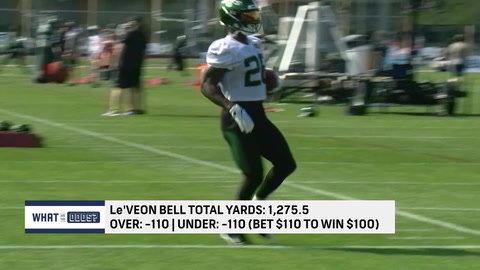 What are the odds on total yards for Le'Veon Bell in 2020?