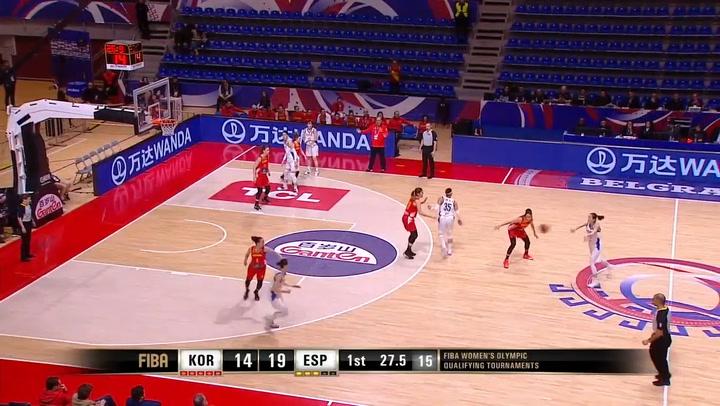 Korea - España: Resumen del partido de baloncesto calificatorio para los JJOO