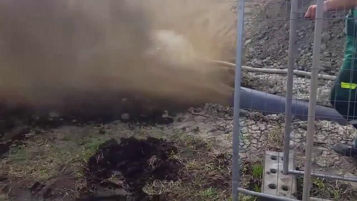 Rioolbuis wordt baggerkanon
