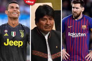 ¡Insólito! Evo Morales se comparó con Cristiano Ronaldo y Lionel Messi