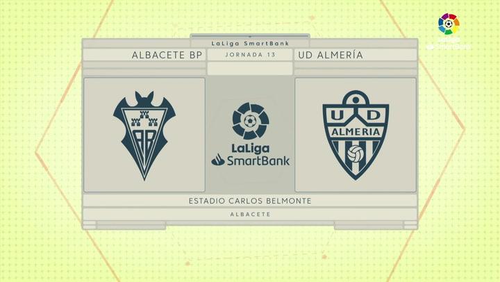 LaLiga SmartBank (J13): Resumen y goles del Albacete 1-2 Almería