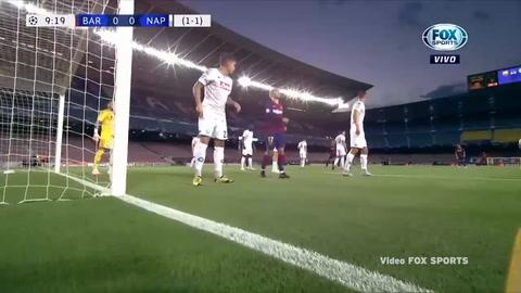 Gol De Clément Lenglet Al Napoli  (Champions League 2020)