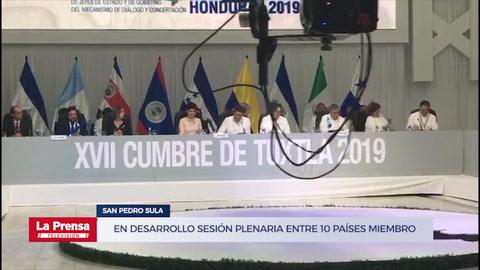 Cumbre de Tuxtla: En desarrollo sesión plenaria entre 10 países miembro