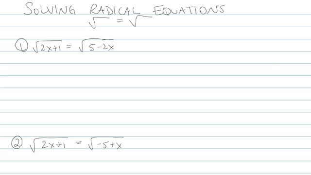 Solving an Equation with Radicals - Problem 7