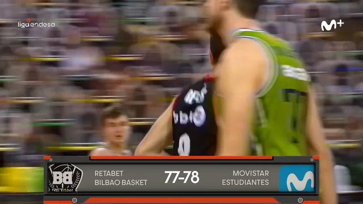 Liga Endesa: Retabet Bilbao Basket - Movistar Estudiantes (77-78)