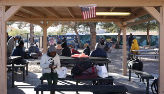 Clients at Las Vegas' Homeless Courtyard talk about their experience