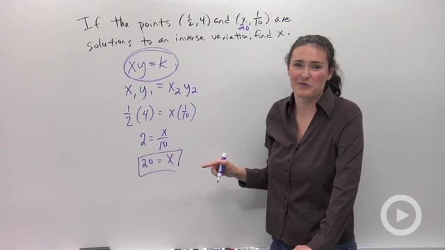 Inverse Variation - Problem 3