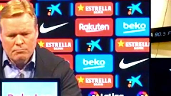 """Koeman: """"¿Por qué sólo hay VAR contra el Barça?"""""""