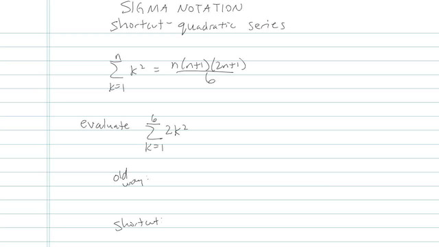 Series and Summation Notation - Problem 4