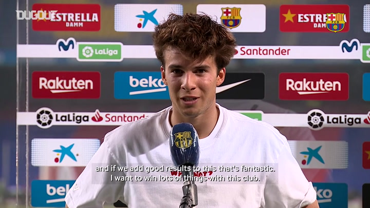 Riqui Puig: 'I want to win lots of things with this club'