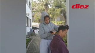 Georgina la hace de barbera en cuarentena: le corta el cabello a Cristiano Ronaldo