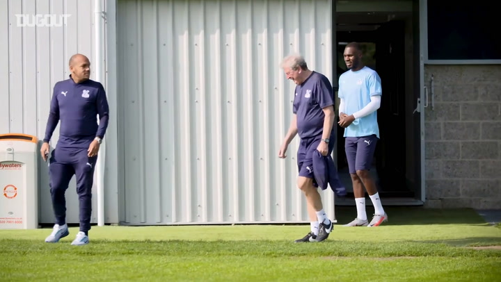 Nathaniel Clyne trains with Crystal Palace